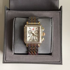 MICHELE DECO Watch with gold and white gold band